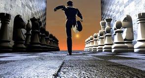 Partes de xadrez running da calha do homem ilustração royalty free