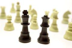 Partes de xadrez ultrapassadas Foto de Stock Royalty Free