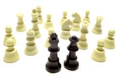Partes de xadrez ultrapassadas Fotos de Stock Royalty Free