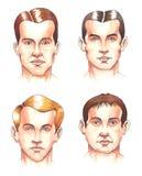 Partes del cuerpo: caras Stock de ilustración