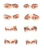 Partes del cuerpo: ojos Fotografía de archivo