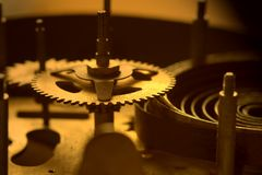 Partes del reloj viejo - II Fotografía de archivo