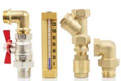 Partes del sistema de calefacción Imagen de archivo libre de regalías