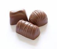 Partes deliciosas de chocolate Imagens de Stock