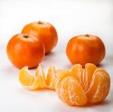 Partes descascadas de laranja Imagem de Stock