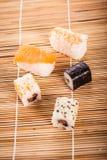 Partes diferentes do sushi Fotografia de Stock