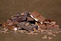 Partes do chocolate - 04 Foto de Stock Royalty Free
