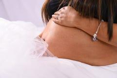 Partes do corpo de maternidade da mulher do bebê da mãe da família da barriga da gravidez Fotos de Stock