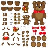 Partes do corpo de um urso no vetor ilustração stock