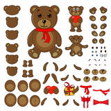 Partes do corpo de um urso no vetor ilustração royalty free