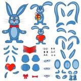 Partes do corpo do coelho no vetor ilustração do vetor
