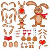 Partes do corpo do coelho no vetor ilustração royalty free