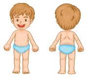 Partes do corpo do menino Imagens de Stock
