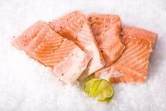 Partes do corte dos peixes frescos Imagens de Stock Royalty Free