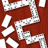 Partes do dominó ilustração stock