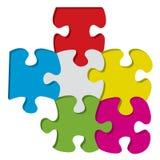 partes do enigma 3d Imagens de Stock