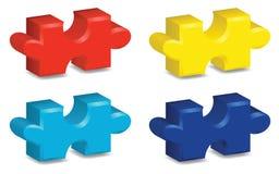 partes do enigma 3D Ilustração do Vetor