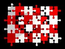Partes do enigma Foto de Stock Royalty Free