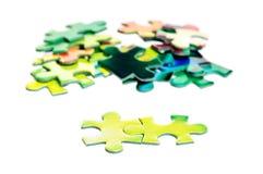 Partes do enigma Fotos de Stock