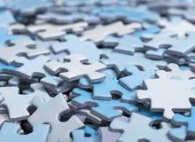 Partes do enigma Imagem de Stock