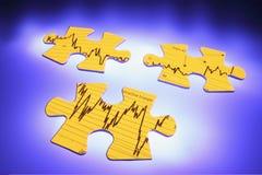 Partes do enigma de serra de vaivém do gráfico Foto de Stock Royalty Free
