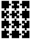 Partes do enigma preto Fotos de Stock