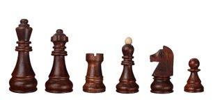 Partes do jogo de xadrez Imagens de Stock Royalty Free
