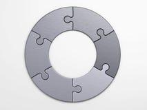 Partes do metal de enigma para colocar conceitos Foto de Stock Royalty Free