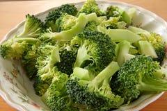 Partes dos bróculos foto de stock royalty free