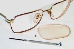 Partes dos vidros Fotografia de Stock