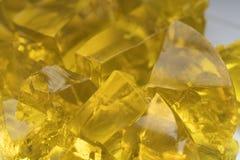 Partes douradas Jelly Dessert Juicy Food Collagen que cozinha o doce de fruta da receita imagens de stock