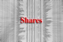Partes escritas en rojo con un artículo periodístico borroso fotos de archivo