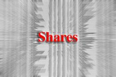 Partes escritas no vermelho com um artigo de jornal borrado fotos de stock