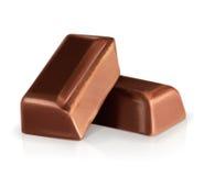 Partes escuras do chocolate ilustração royalty free