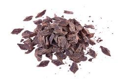 Partes esmagadas de chocolate escuro Fotos de Stock