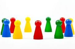 Partes/figuras do jogo Foto de Stock Royalty Free