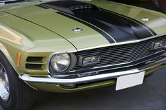 Partes frontales 1970 del mustango Mach1 Fotografía de archivo libre de regalías
