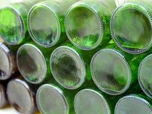 Partes inferiores de frascos de vidro vazios Fotos de Stock Royalty Free