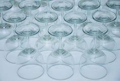Partes inferiores de la copa de vino Imagen de archivo