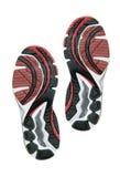 Partes inferiores del zapato corriente foto de archivo libre de regalías