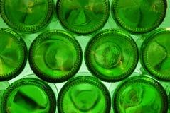 Partes inferiores verdes de la botella Fotos de archivo libres de regalías