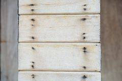 Partes pequenas de prancha de madeira para fazer o estilo do vintage dos polos da casa Foto de Stock Royalty Free