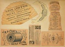 Partes posteriores antiguas de la postal Foto de archivo libre de regalías