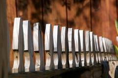 Partes superiores da cerca de piquete Fotografia de Stock