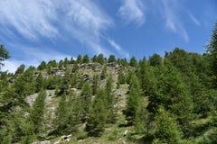 Partes superiores da montanha Imagem de Stock Royalty Free