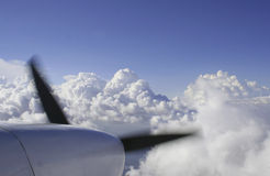 Partes superiores de nuvem imagem de stock