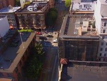 Partes superiores do telhado Foto de Stock Royalty Free