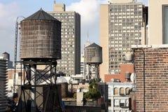 Partes superiores do telhado de New York Foto de Stock