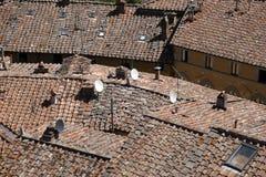 Partes superiores do telhado do castellina no chianti foto de stock royalty free