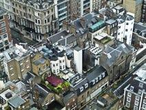 Partes superiores do telhado em Londres central, Imagens de Stock